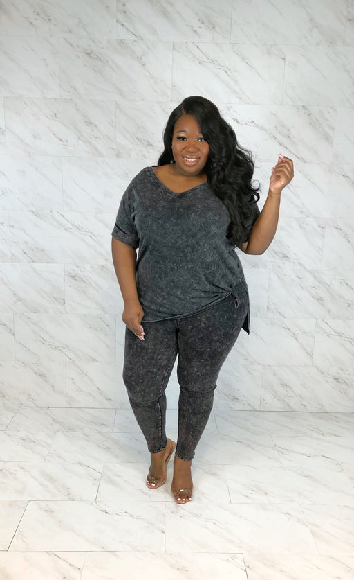 Run This Town Legging Set | Charcoal