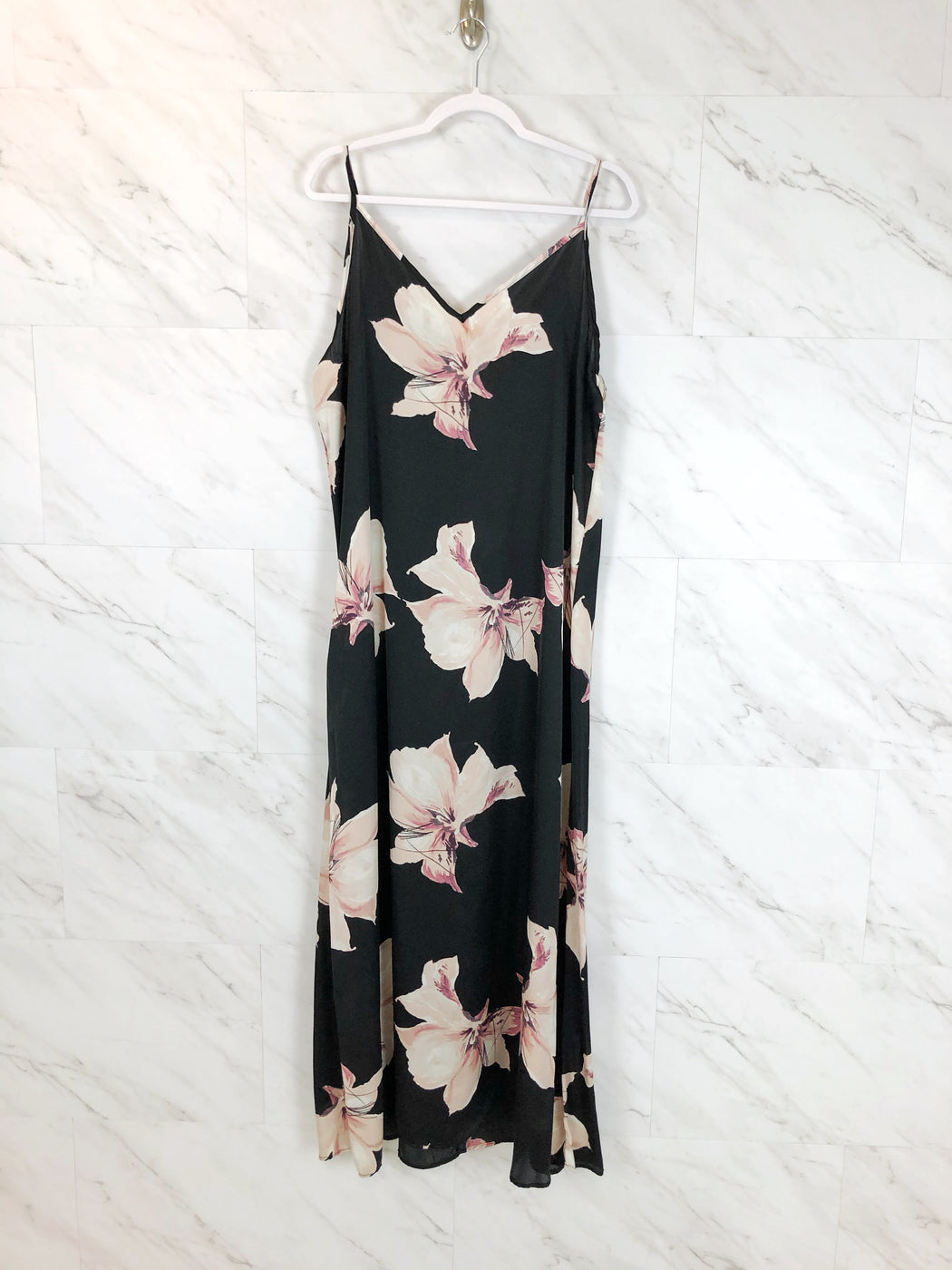 Slip Dress | Black Floral