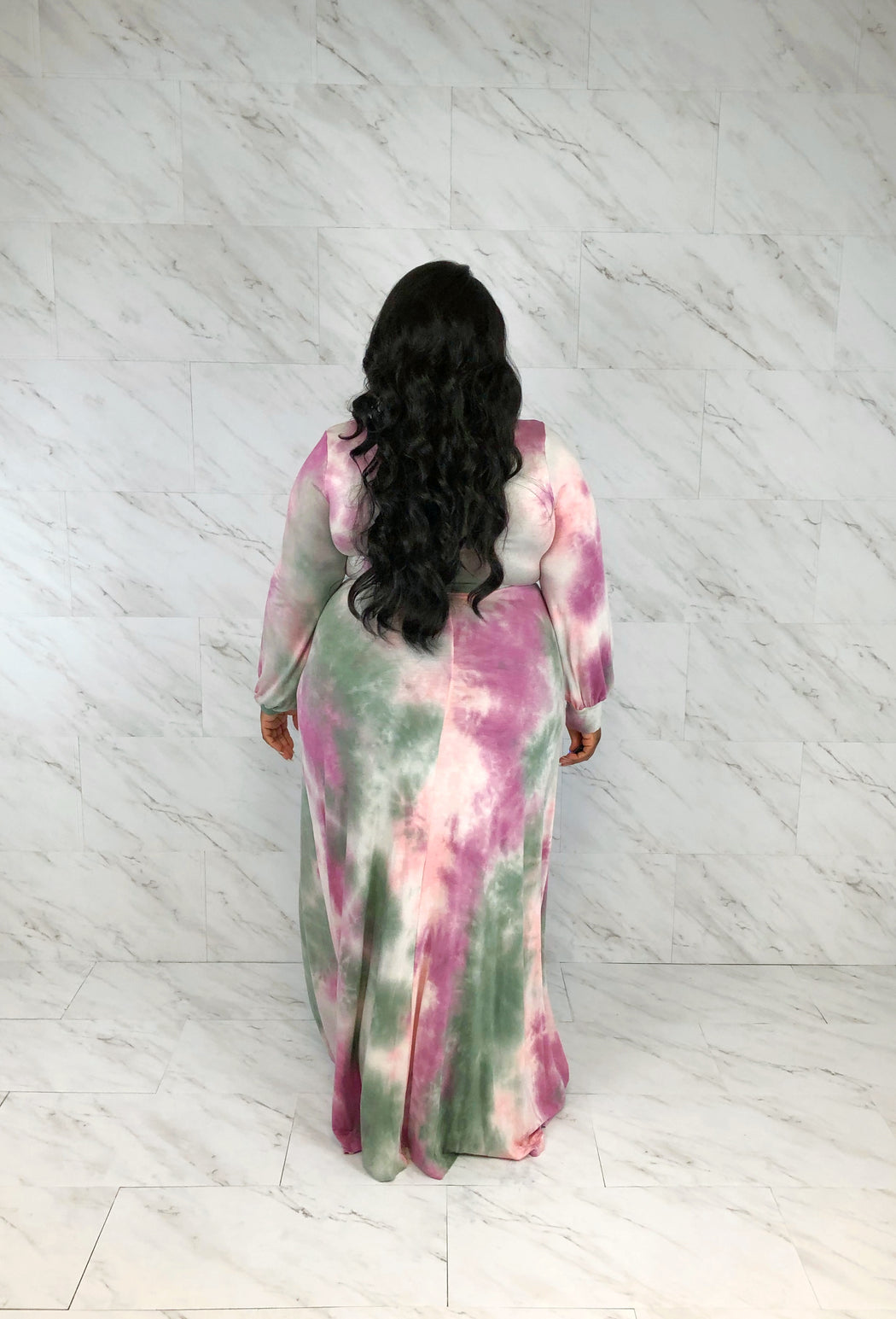 Cotton Candy Wrap Maxi | Pink Mix