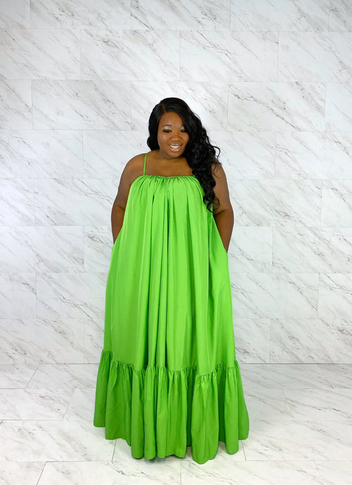 Endless Summer Maxi Dress | Lime