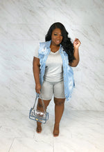 Don't Look Back Shredded Denim Vest | Light Blue