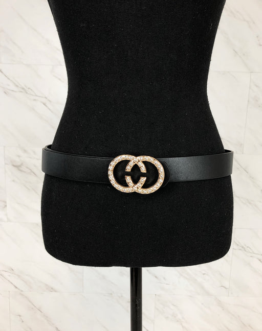 So Chic Faux Leather Belt | Black