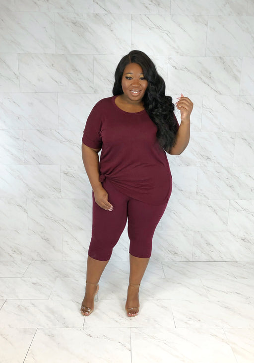 On The Go Capri Set | Merlot