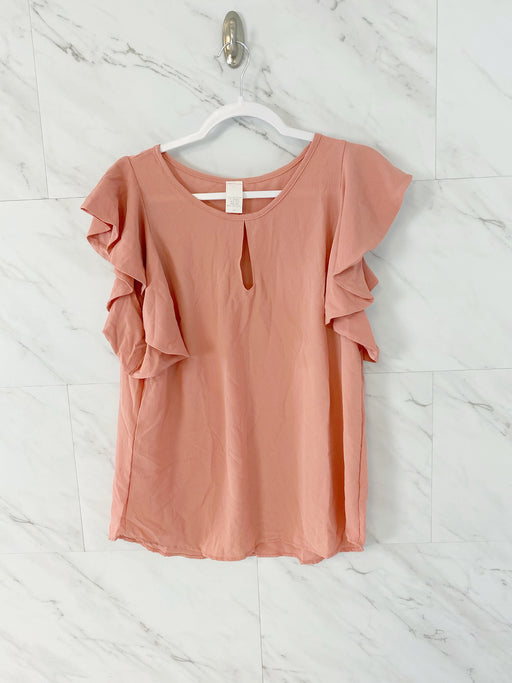 Flutter Sleeve Blouse | Dusty Rose