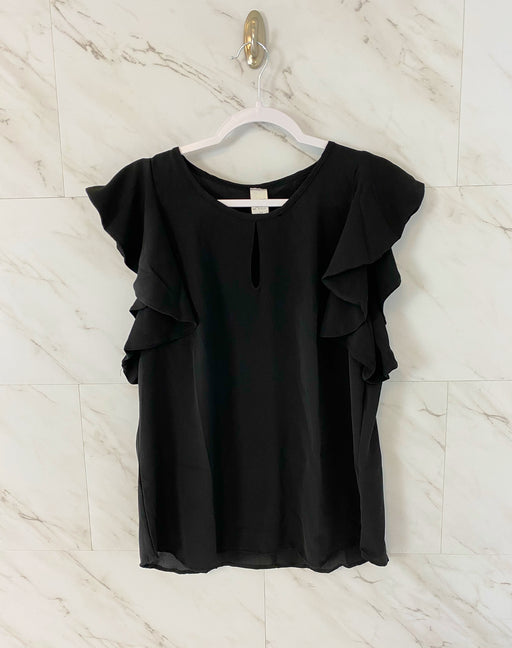 Flutter Sleeve Blouse | Black