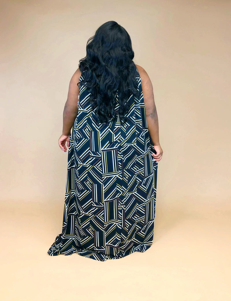Luxe Maxi Dress | Geo Mix