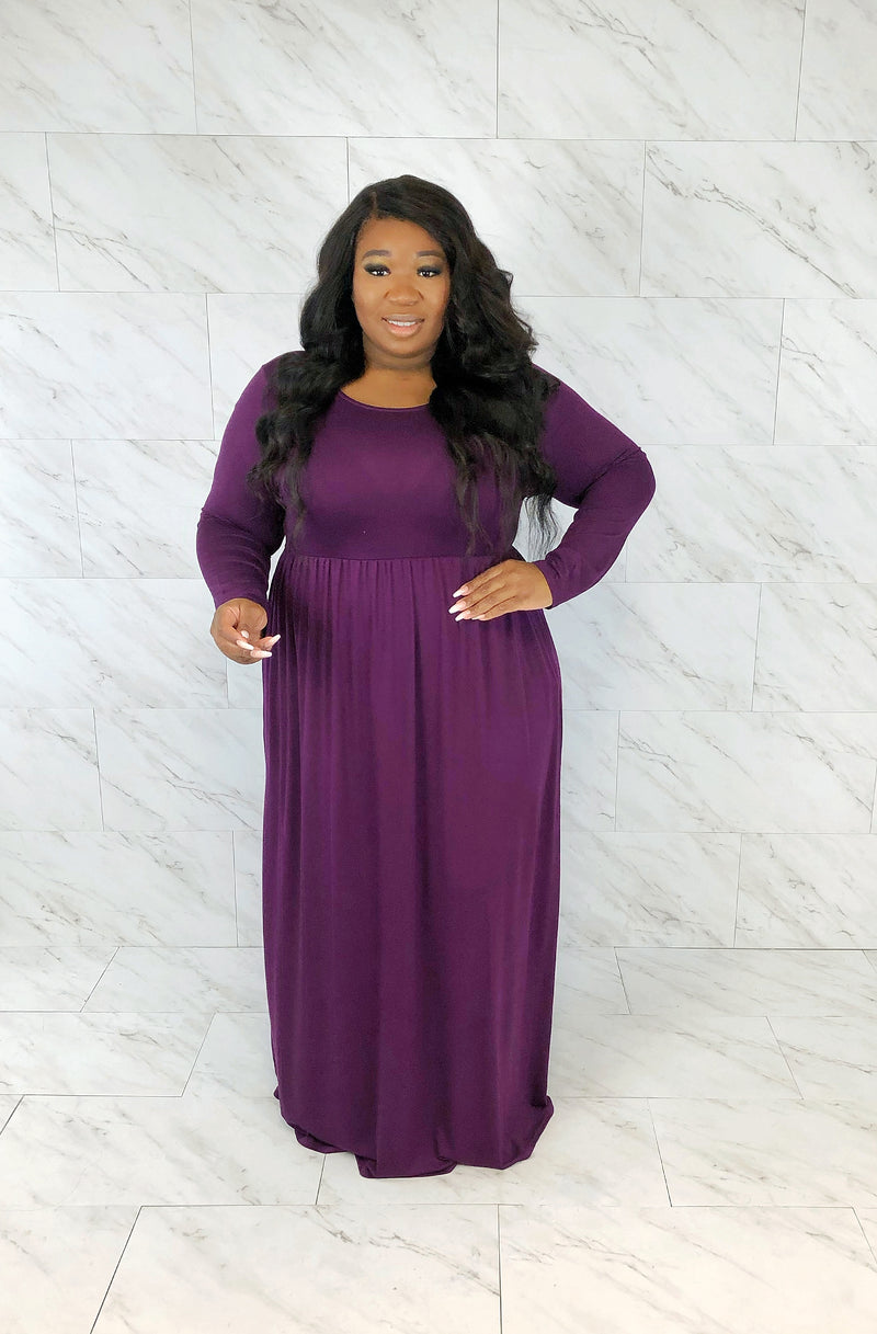 Ez-Long Sleeve Maxi | Sugar Plum