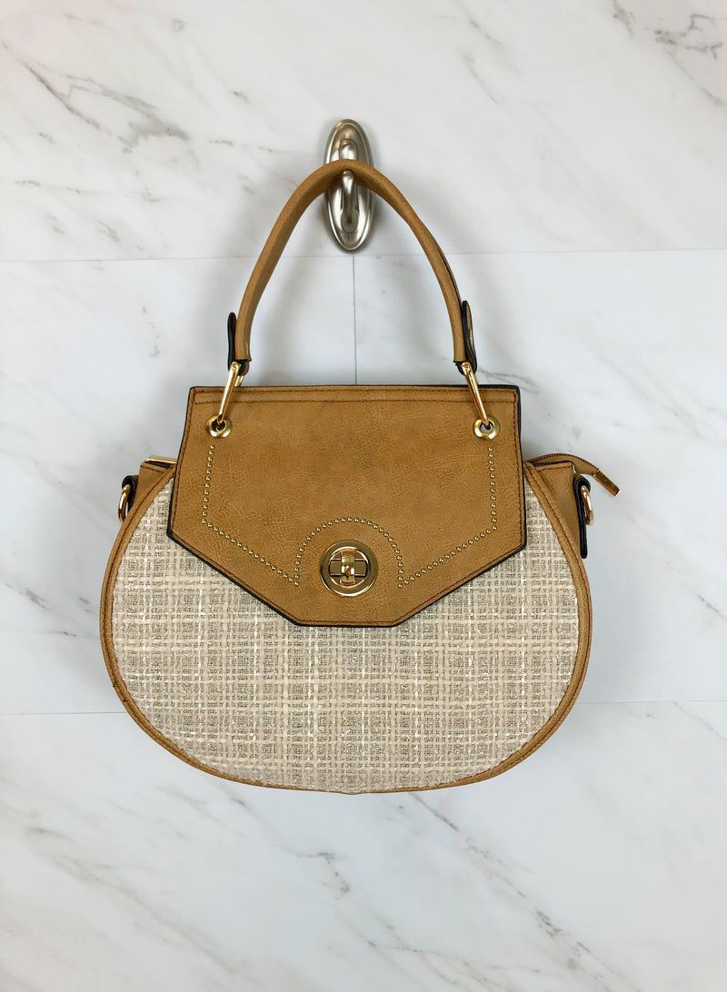 Coco Tweed Saddle Bag | Tan