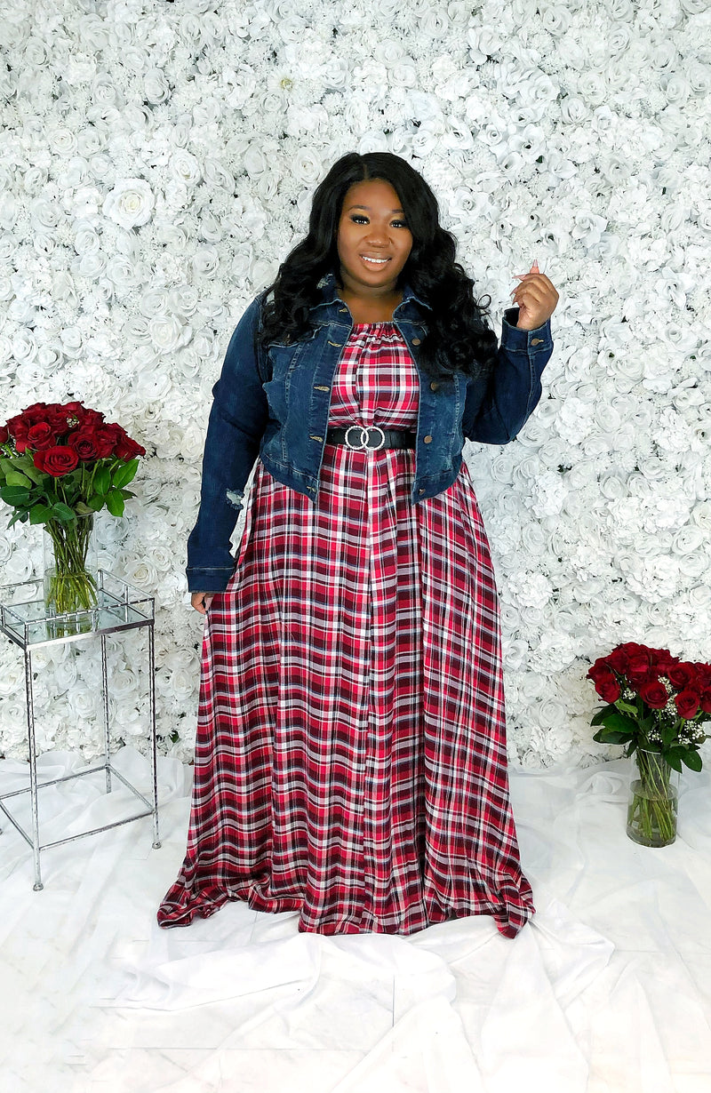 Plaid Luxe Maxi | Crimson Mix
