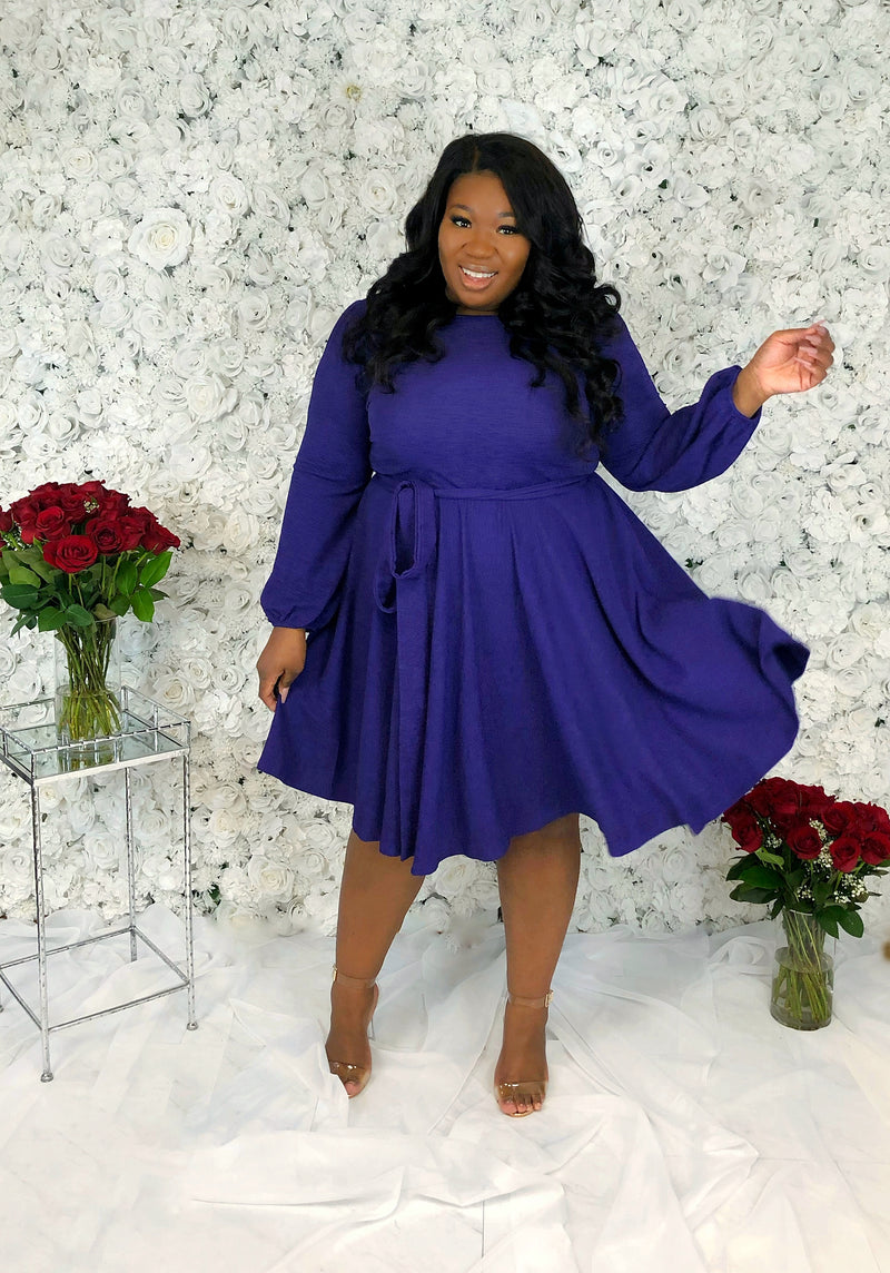 Forever Elegant Fit & Flare Dress | Amethyst