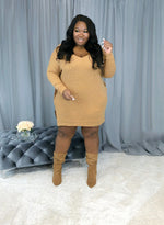 All I Ever Wanted Mini Sweater Dress | Brown Sugar