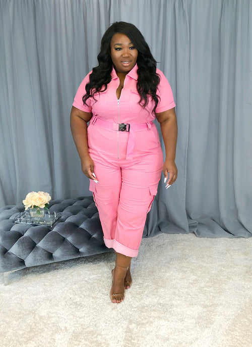Aviator Jumpsuit | Bubble Gum Pink
