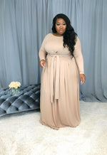 Everything I Need Tie-front Skirt Set | Taupe