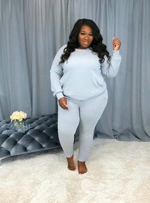 Cute & Cozy Sweat Set | Heather