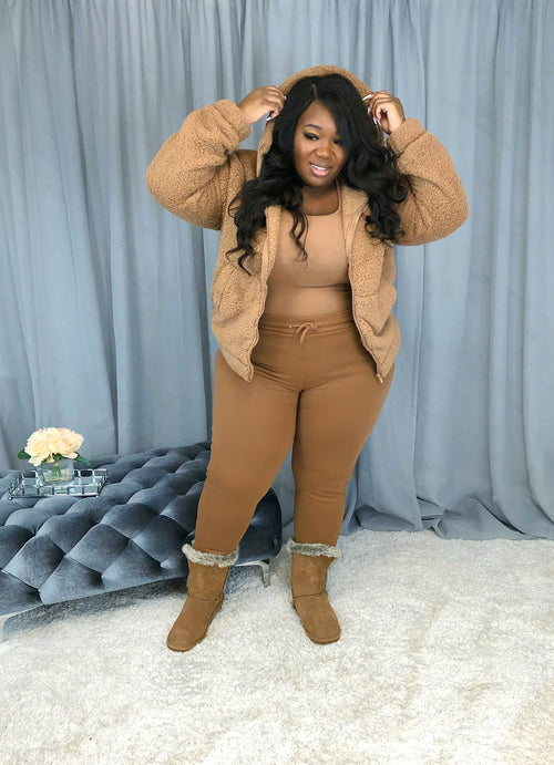 Warm & Fuzzy Three Piece Set | Camel