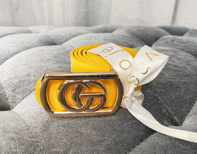 The High Life Faux Leather Belt | Gold
