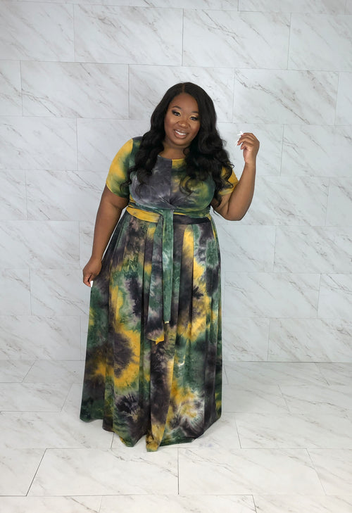 Everything I Need Tie-front Skirt Set | Tie-dye