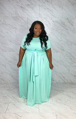 Everything I Need Tie-front Skirt Set | Mint