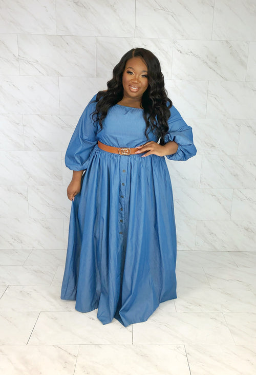 Esmeralda Maxi Dress | Chambray