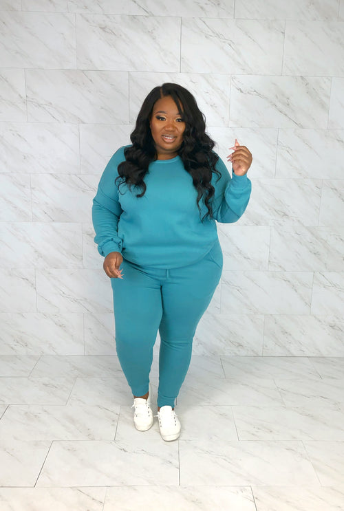 Cute & Cozy Sweat Set | Aqua