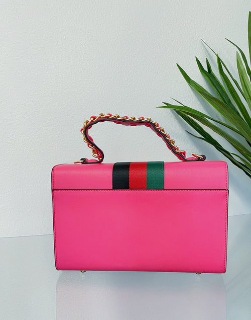 Boujee Bee Signature Stripe Handbag | Pink