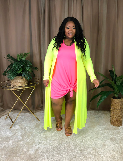Maxi Duster | Neon Yellow