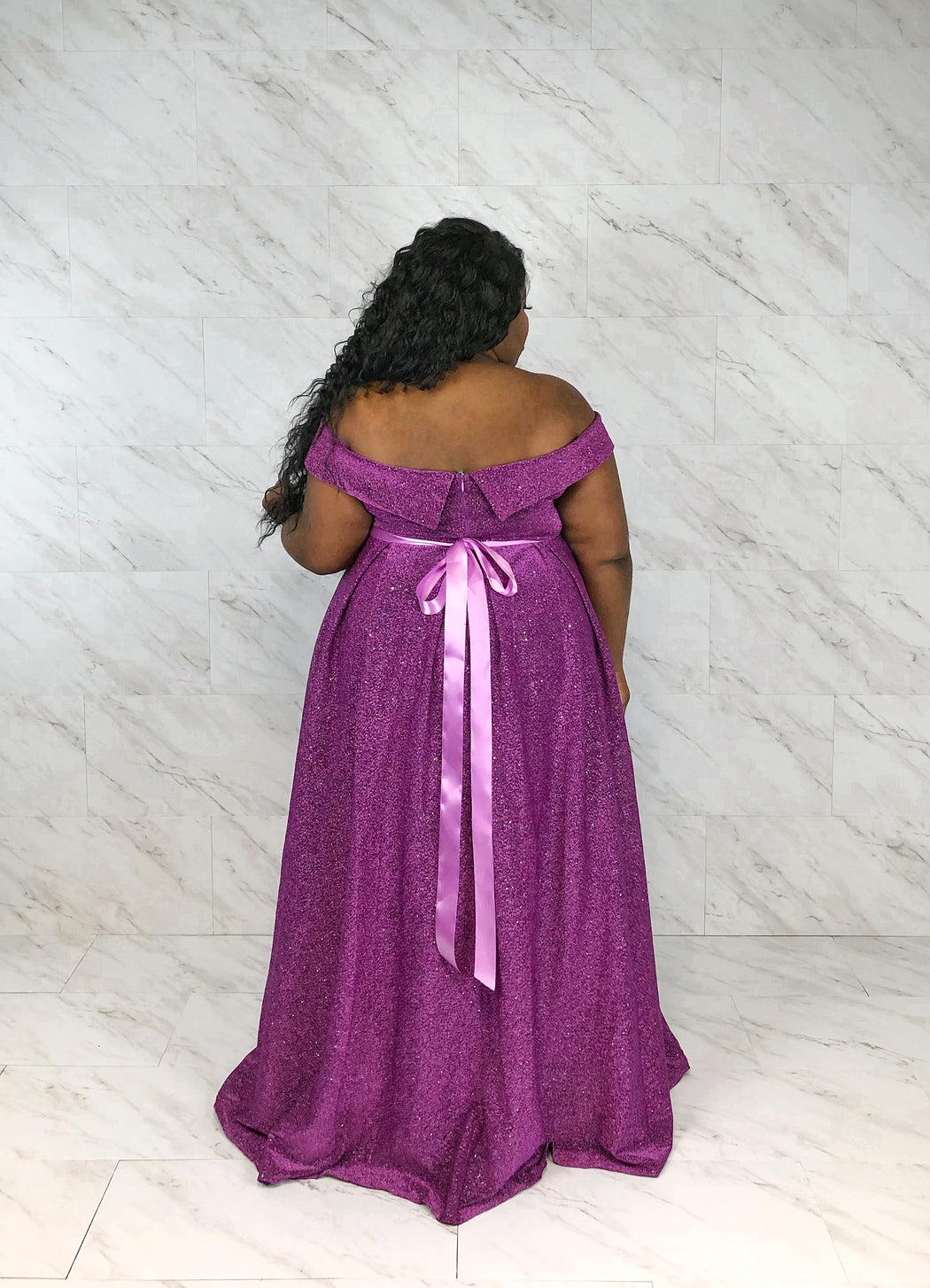 Belle of the Ball Luxe Gown | Sparkling Amethyst