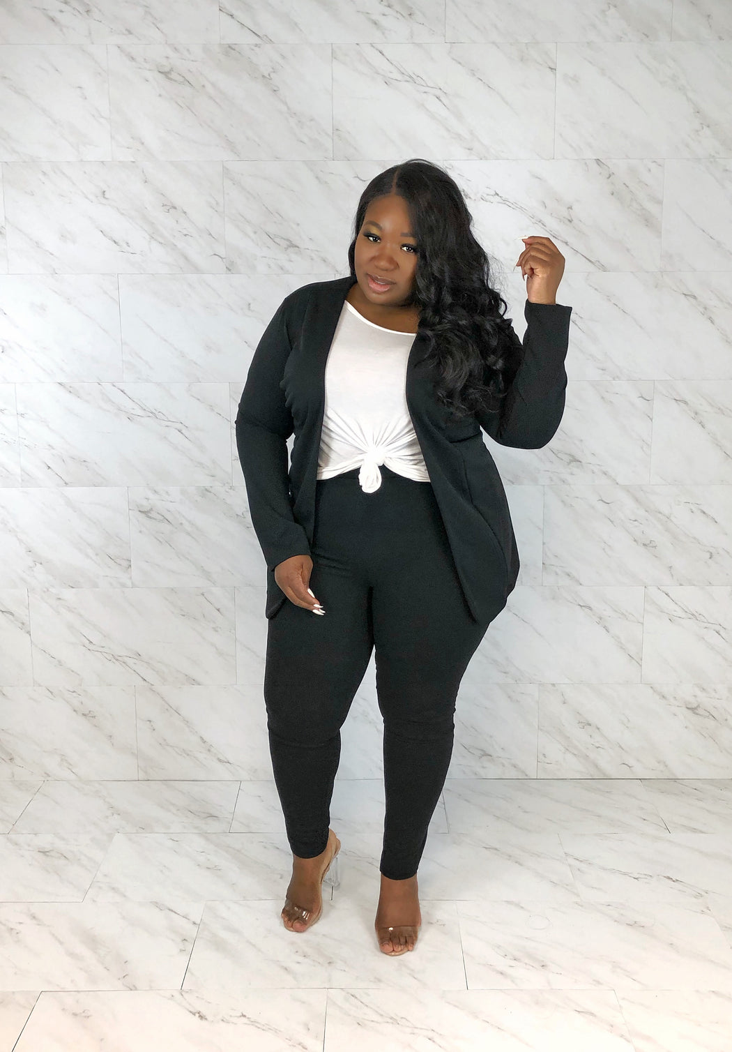 Leading Lady Pant Set | Onyx