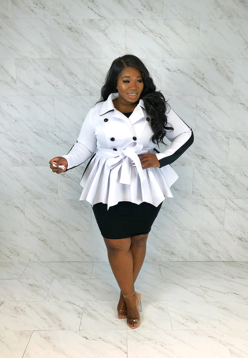 Night & Day Peplum Jacket | White