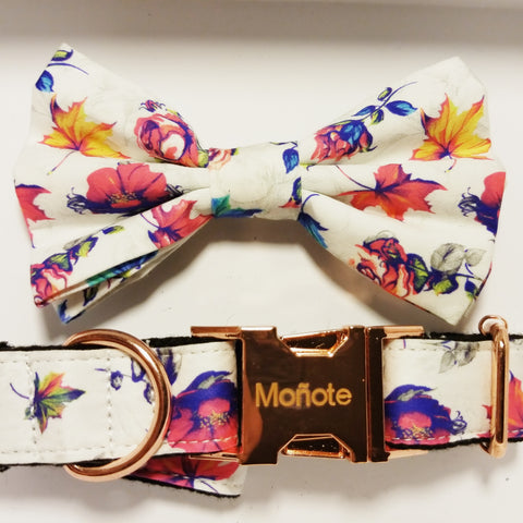 Fall Floral Bow Collar