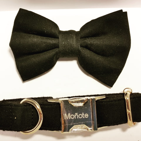 Black Bow Collar