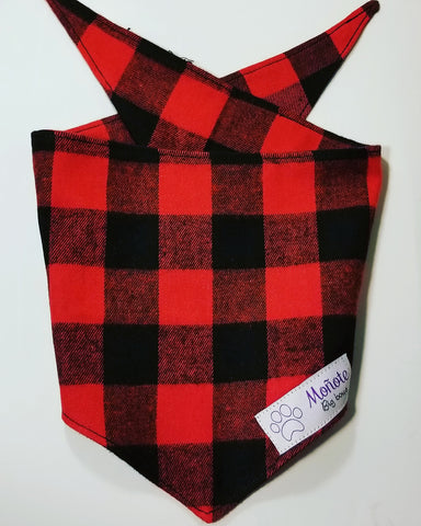 Red Checkered Bandana