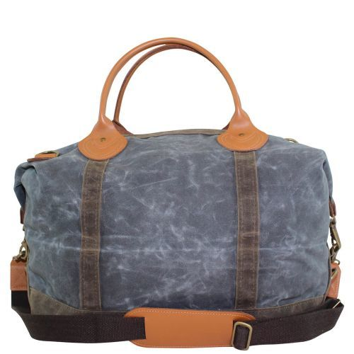 Waxed Canvas Weekender Tote Solid Slate