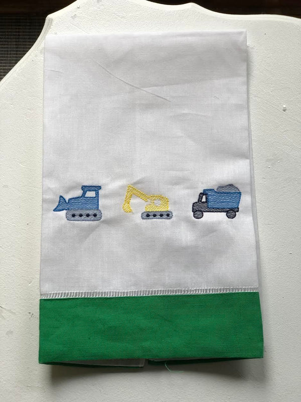 Kids Construction Linen Hand Towel