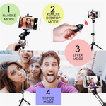 4 in 1 Mini Selfie Stick with Remote-BUY 2 FREE WORLDWIDE SHIPPING