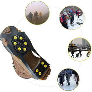 Non-Slip Shoe Cover Ice Snow Grips Over Shoe Boot
