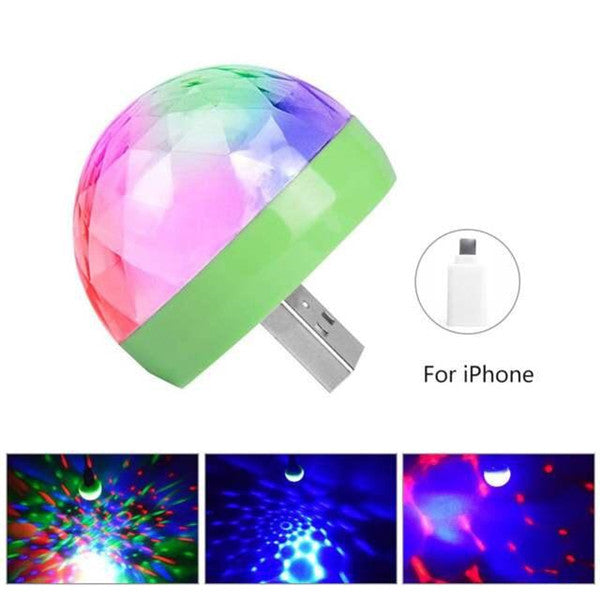 LED Party USB Atmosphere Light DJ RGB Mini Colorful Music Sound Lamp-USB Phone Magic Ball