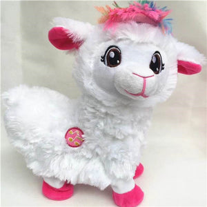 Cute Twisted Electric Plush Alpaca Toy For kids--Best Gifts