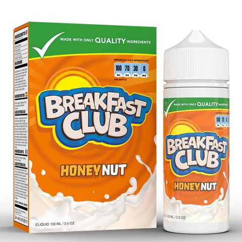 Breakfast Club Honey Nut 100ML 0MG E-Liquid