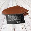 TINY CA5002 - ENGRAVED WALLET CARD - TO MY MAN