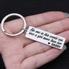 TINY KC1106 - No one in this world can love a girl more than her daddy - keychain