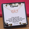 TINY NL3177 - To My Girlfriend - I never want to lose you - HEART NECKLACE
