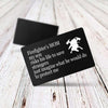 TINY CA5022 - ENGRAVED WALLET CARD - FIREFIGHTER'S MOM