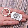 TINY KC1095 - A big piece of my Heart lives in Heaven and she is my Grandmother - keychain