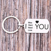 TINY KC1144 - I LOVE YOU - DOG TAG KEYCHAIN