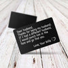 TINY CA5009 - ENGRAVED WALLET CARD - DEAR HUSBAND