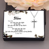 TINY NL3220 - Mommy - You are, not only just the light of my life - Cross Necklace
