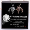 TINY NL3295 - To My Future Husband - The howling of your heart - Couple Wolf Pendant Necklaces
