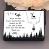 TINY NL3229 - My Future Wife - I never want to lose you - Antler Necklace