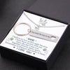 TINY NL3144 - TO MY BOYFRIEND -  Together forever, never apart... - Heart Necklace & Keychain Gift Set
